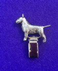 Dog Show Breed Ring Number Clip - English Bull Terrier EBT - FULL BODY Silver or Gold Style